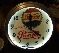 Vintage Pepsi Cola Clock... it's always time for pepsi-cola
