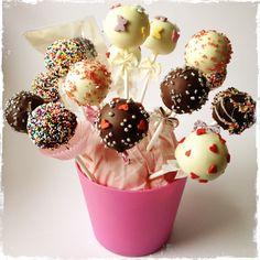Cake Pop Milk Chocolate and White Chocolate with Sprinkles
