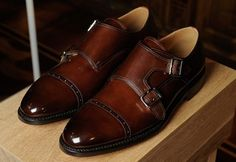 Rounded cap-toe double monks with subtle burnishing? I'm not even mad.