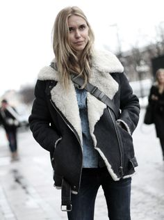 Trending: How to wear a shearling jacket