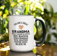 Special Birthday Gifts, Birthday Gifts For Her, Tea Mugs, Coffee Mugs, Grandma Gifts, Family Gifts, Valentine Day Gifts, Personalized Gifts, Ceramics