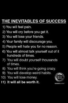 I agree with most of these.  I have one rockin' family that doesn't discourage me.