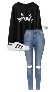 """""""../../././."""" by anna-mae-equils on Polyvore featuring Topshop and adidas Originals"""