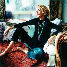 Loulou de la Falaise at home in Paris.  Photo by Pascal Chevallier.  Vogue Espana, October 2004.