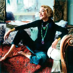 Loulou de la Falaise, at home in Paris
