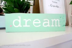 Dream Handpainted Sign by OnionGroveMercantile on Etsy