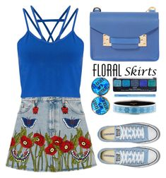 """Floreal skirt"" by simona-altobelli ❤ liked on Polyvore featuring Gucci, Miss Selfridge, Sophie Hulme, NYX, Hermès, Too Faced Cosmetics, MyStyle, floralskirt and polyvorecontest"