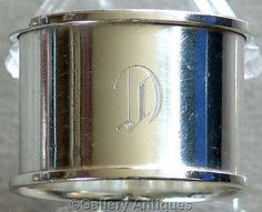 Art Deco 925 Solid Sterling Silver Plain Circular Napkin / Serviette Ring by Marson and Jones Hallmarked for Birmingham, 1937 (ref: 3149)