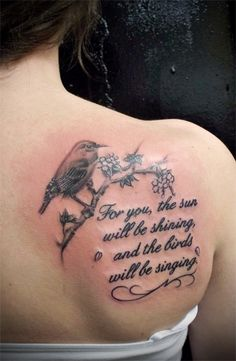 For you the sun will be shining and the birds will be singing