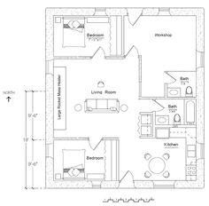 Free Economizer Earthbag House Plan Cottage Design Natural - Building earthbag house plans free
