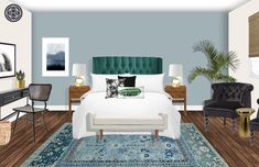 Eclectic, Glam Bedroom Design by Havenly Interior Designer Nancy Eclectic Design, Eclectic Style, Interior Design Inspiration, Home Interior Design, Funky Art, Glam Room, Your Space, Bedrooms, Dreams