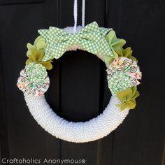 DIY St. Patrick's  : DIY St. Patrick's Day Shamrock Wreath