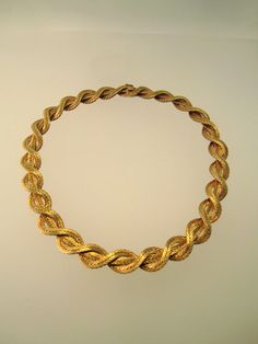 18k Yellow Gold Woven Signed Buccellati Necklace by HudsonEstate