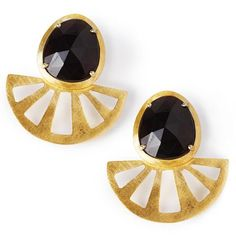A satin finish open ray earring jacket in double gold plated sterling silver. These add a dynamic statement to any Black Betty stud. Size: x Fancy Jewellery, Fancy Earrings, Statement Earrings, Women's Earrings, Fashion Earrings, Fashion Jewelry, Women Jewelry, Women's Fashion, Betty Design