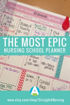Hands down the BEST and most complete planner for nursing students!