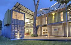 This container home in Costa Rica is almost a monster home, but has some interesting features.