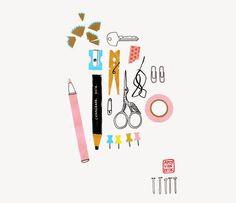 Stationery illustration by Amy van Luijk Art And Illustration, Illustration Inspiration, Pattern Illustration, Illustrations And Posters, Graphisches Design, Graphic Design, Luba Lukova, Sketch Note, Crayon