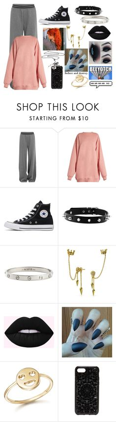 """NightMare"" by maya-fischbach on Polyvore featuring Puma, Acne Studios, Converse, Cartier, Bling Jewelry, Bing Bang and Felony Case"