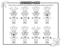 Reindeer matching game
