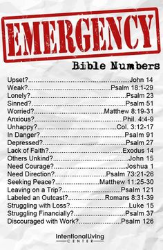 let these verses in the Bible help you in your time of need <3