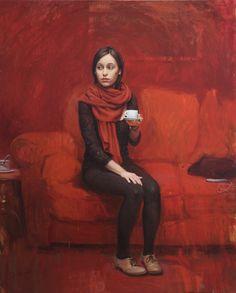 Artistas que se venden, Cristina. oil painting | © Jordi Diaz Alamà