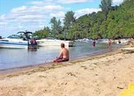 Potters Beach, Grindstone Island. We head there almost every nice day we can while at the river. :)