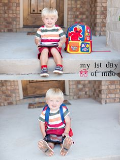 first day of school photography