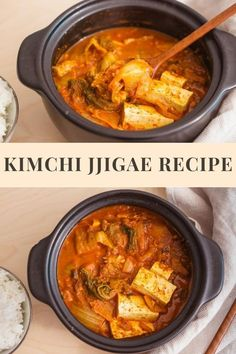 Kimchi Jjigae by Chef Baek Jong Won Jjigae Recipe, Korean Red Pepper Flakes, Spicy Stew, Pork Broth, Chopsticks, Pork Belly, Korean Food, Kimchi, Recipe Using
