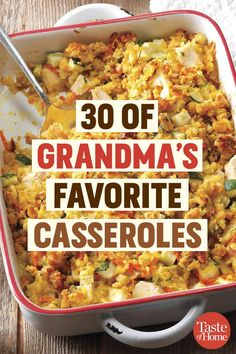 30 of Grandmas Favorite Casseroles The post 30 of Grandmas Favorite Casseroles appeared first on Tasty Recipes. One Dish Meals Tasty Recipes Cuisine Diverse, Pasta, Comfort Food, Ground Beef Recipes, Casserole Dishes, Cheap Casserole Recipes, Chicken Casserole, One Pot Meals, Food Dishes