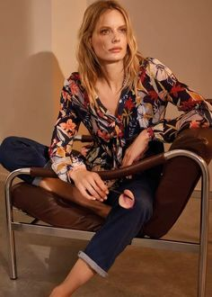Ember Floral Chiffon Blouse - Multicolor - Phase Eight Tops Line Photo, Floral Chiffon, Floral Tie, Tie Neck Blouse, Phase Eight, Retro Look, High Rise Jeans, Fall Wardrobe, Latest Fashion For Women