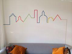 Washi Tape Wall Art dorm wall art: washi tape windows | tape wall art, washi tape wall