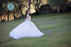 Inspired by Disney's movie Cinderella. Our studio spring creative photo shoot. Senior model Lara models a blue & white ball gown from Sierra Bridal. Jennifer Rapoza Photography, Sonora, CA. Hair and makeup by Jessica Alger.
