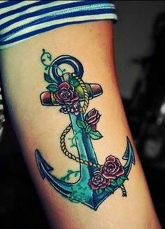 Feminine anchor tattoo. i want this for my cover up...!