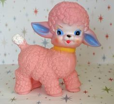 Pink Sun rubber vintage style Squeaky lamb