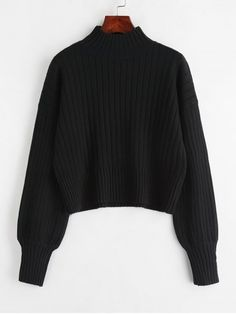 Suéter negro de Lana, talla única.con cereza central de