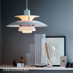 Modern Lamp Denmark Louis Poulsen Pendant Lamp Bedroom Lamp White Black Hanging Light Suspension Droplight Living Dining really good price Lantern Pendant Lighting, Kitchen Pendant Lighting, Glass Pendant Light, Modern Chandelier, Pendant Lamps, Bar Lighting, Living Comedor, Suspension Design, Bedroom Lamps