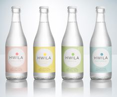 """Hwila, natural mineral water from Vimmerby, Sweden - Designed by Neumeister 