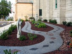 A rosary garden at St. Patrick's Catholic Church in Kokomo, Indiana (USA). Wish my church had one of these!