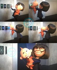 Edna and Jack-Jack Disney Time, Cute Disney, Disney Magic, Walt Disney, Disney Pixar Movies, Disney And Dreamworks, Disney Queens, Jack And Jack, Disney And More