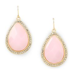 pink pave drops