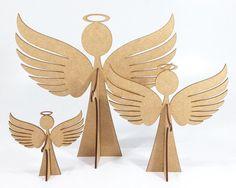 Anjo MDF para decoração mesa