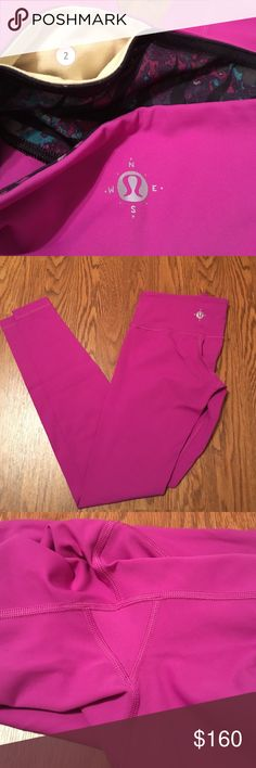 Rare Wunderlust Edition full-length Lululemon pant Rare Lululemon Ultraviolet tribal print Wunderlust Wunder Onder full-length pants in like new condition. No pilling and no rips/stains/snags. Full-on Luxtreme. Size 2 lululemon athletica Pants Ankle & Cropped