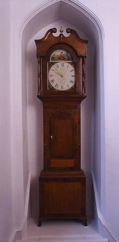 The Brontes' grandfather clock, made by Barraclough of Haworth (courtesy of The Bronte Parsonage Museum)
