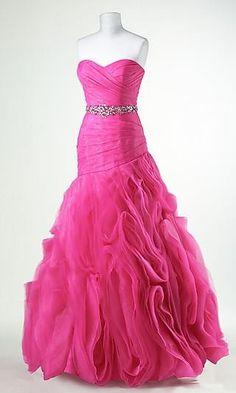 Pink prom dress.