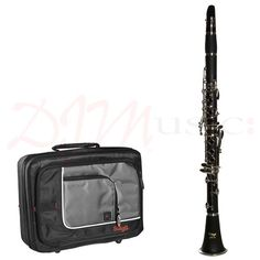 Stagg Bb Clarinet & Case | 17 Key/6 Ring - With a brushed Bakelite body and 17 nickel plated keys, the Stagg 77-C-SC Bb clarinet is an affordable and popular choice with beginners, complete with semi-hard foam case for protection and storage whilst on the move.