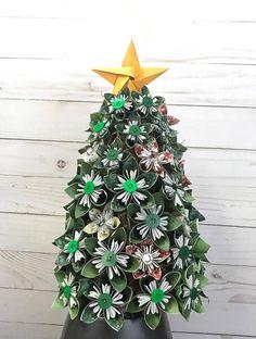 Christmas tree origami flowers kusudama artificial tree