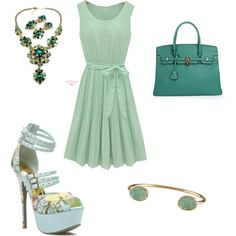 Green With Envy by jessica-shoelover on Polyvore #styleitfab