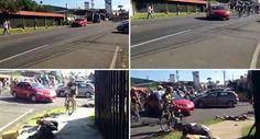Taxista Provoca Acidente Ao Atravessar-Se à Frente De Centenas De Ciclistas