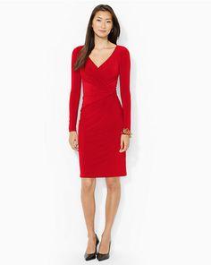 Boatneck Jersey Dress - Short Dresses  Dresses - RalphLauren.com