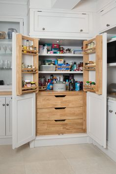Bespoke Lader Storage Unit In Our White Kitchen.The Shaker Collection by Rokofurniture